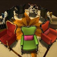 krzesła w stylu barokowym