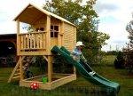 Domki dla dzieci ze zjeżdżalnią